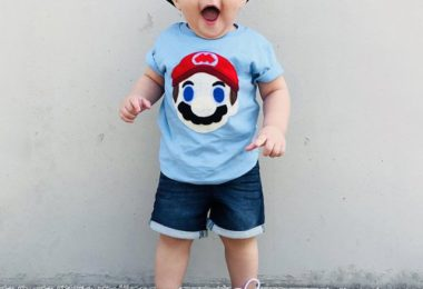 Mario Kids Light Blue T-Shirt
