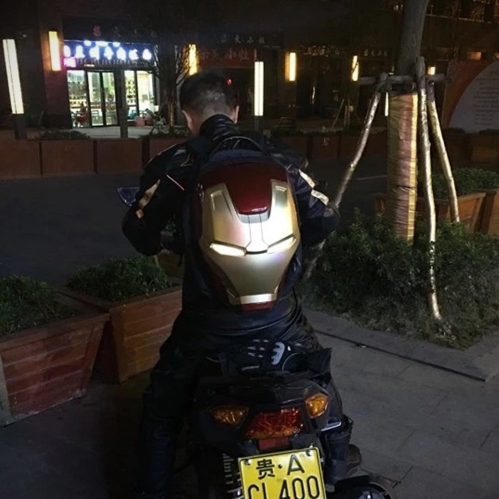 Iron Man LED Backpack