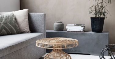 Rattan Side Table from House Doctor