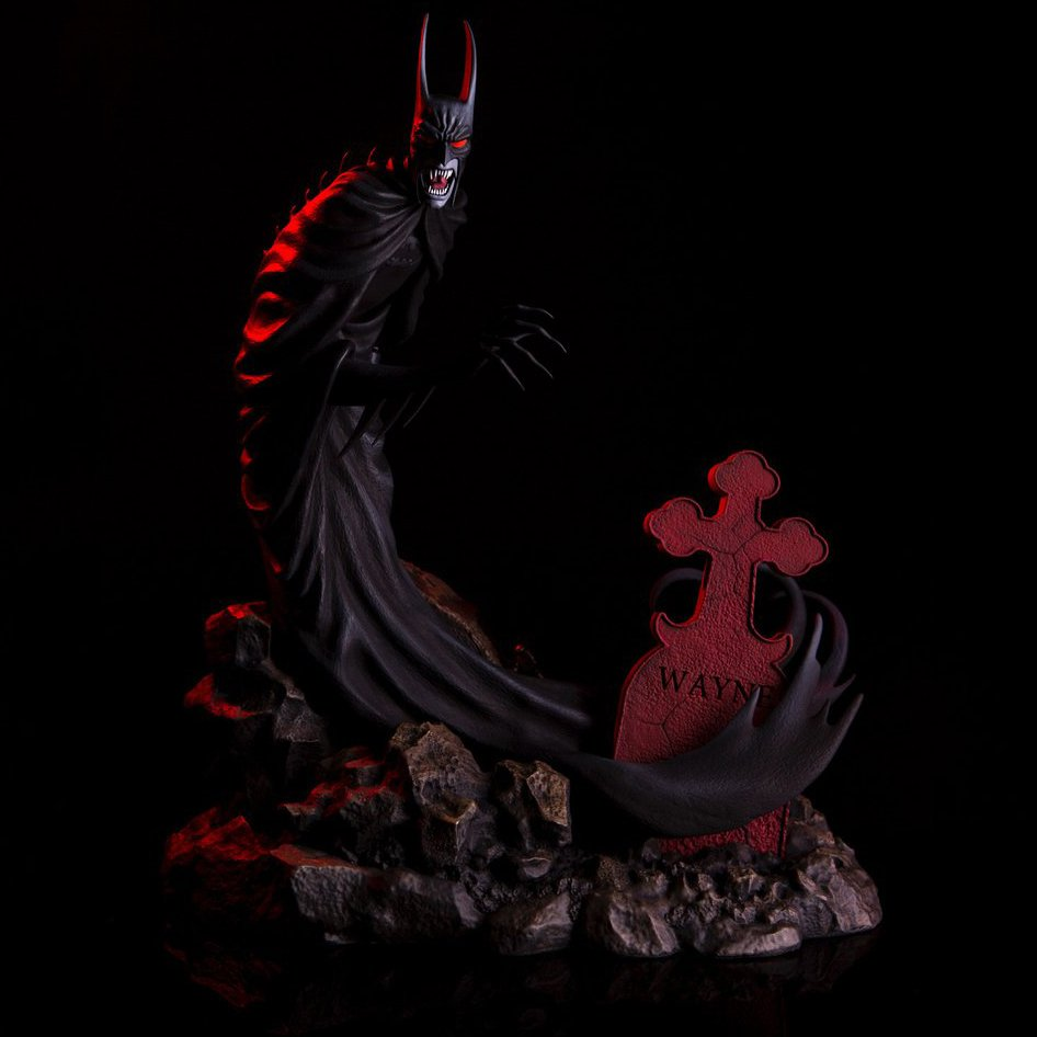 Batman Red Rain Vampire Statue