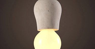 KunMai Rustic Concrete Exposed Edison Bulb Mini Single-Light Pendant Light Fixture (B)
