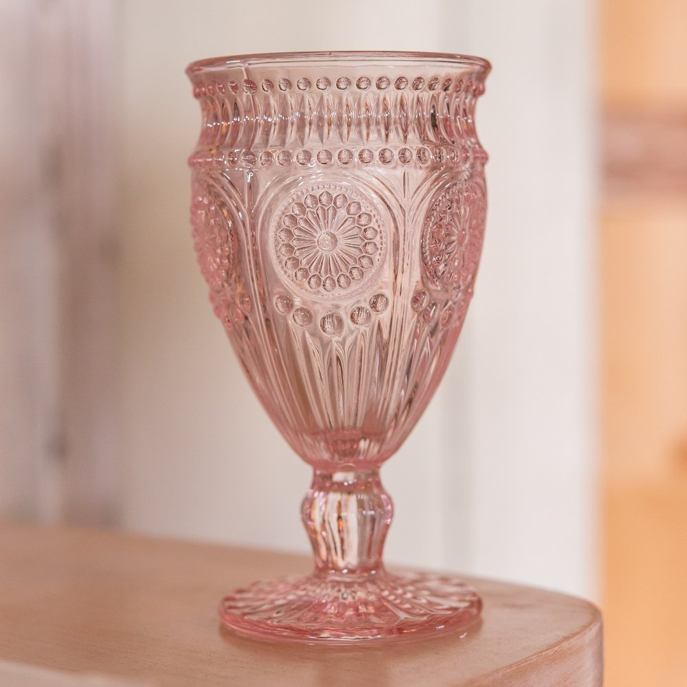 Weddingstar Vintage Inspired Pressed Glass Goblet