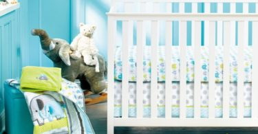 New Baby Safari Elephant 4pcs Crib Bedding Set