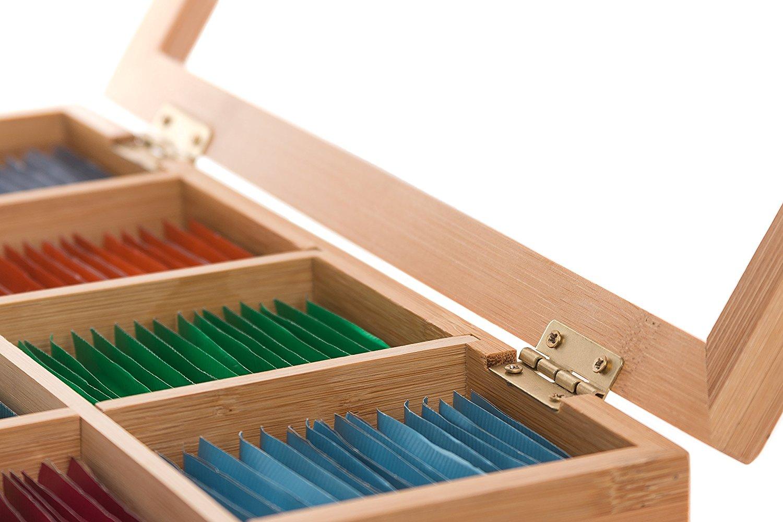 Randomgrounds Bamboo Tea Box Storage