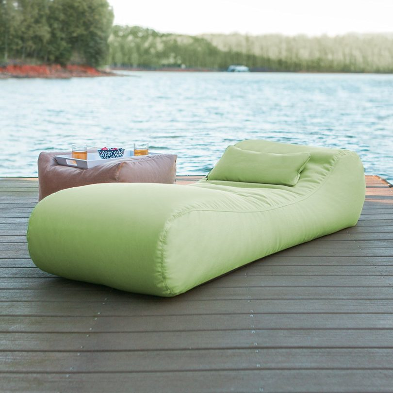 Jaxx Arlo Sun Lounger Patio Bean Bag Chaise