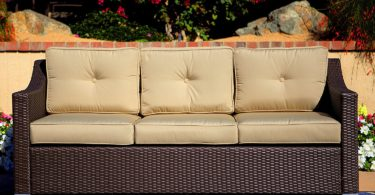 American Patio 3 Seat Wicker Sofa