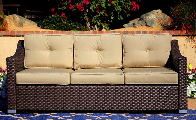 American Patio 3 Seat Wicker Sofa