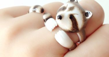 Mary Lou Raccoon Ring Set