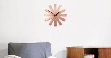 Copper Ribbon Wall Clock by Umbra