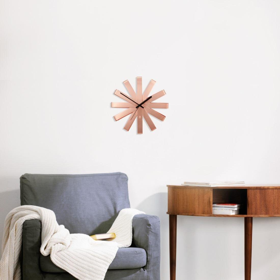 Copper Ribbon Wall Clock by Umbra