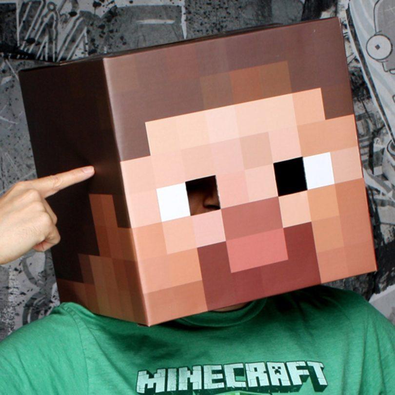 Amazing Minecraft Steve Cardboard Head