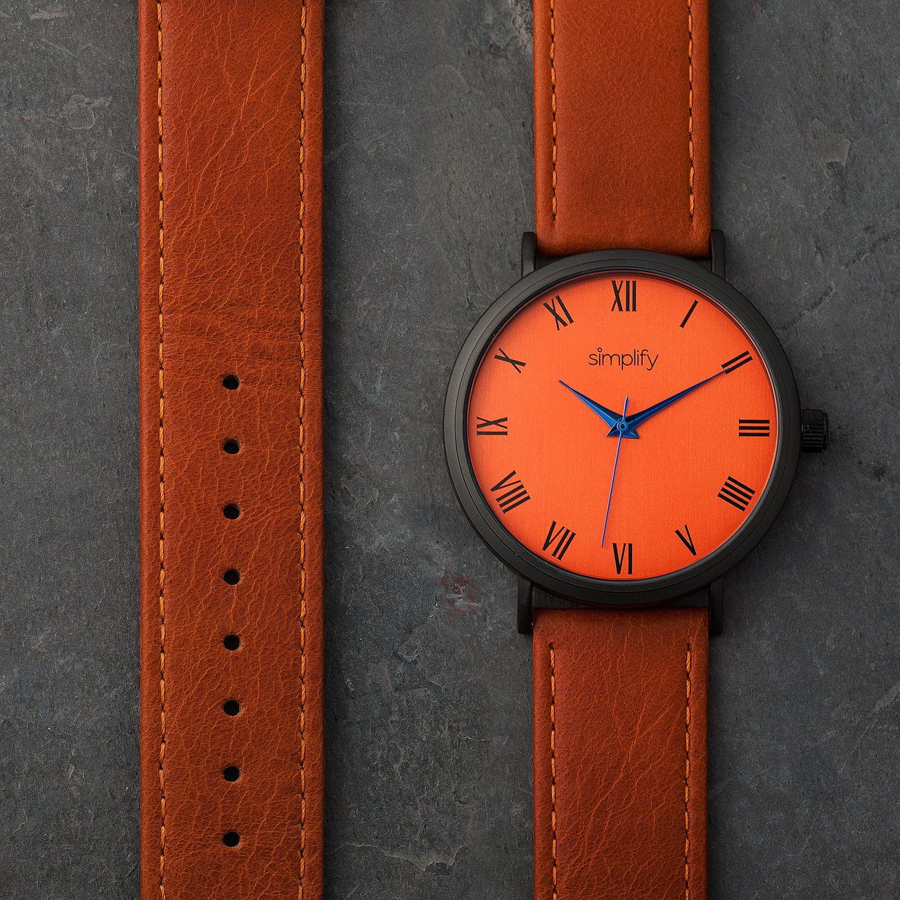 Simplify The 2900 Leather-Band Watch