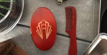 Saddle Brown Beard Brush Set by Adonis Americana