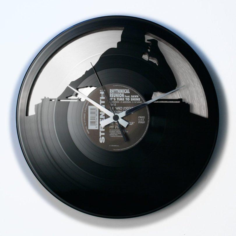 No Sync Black & Silver Vinyl Wall Clock