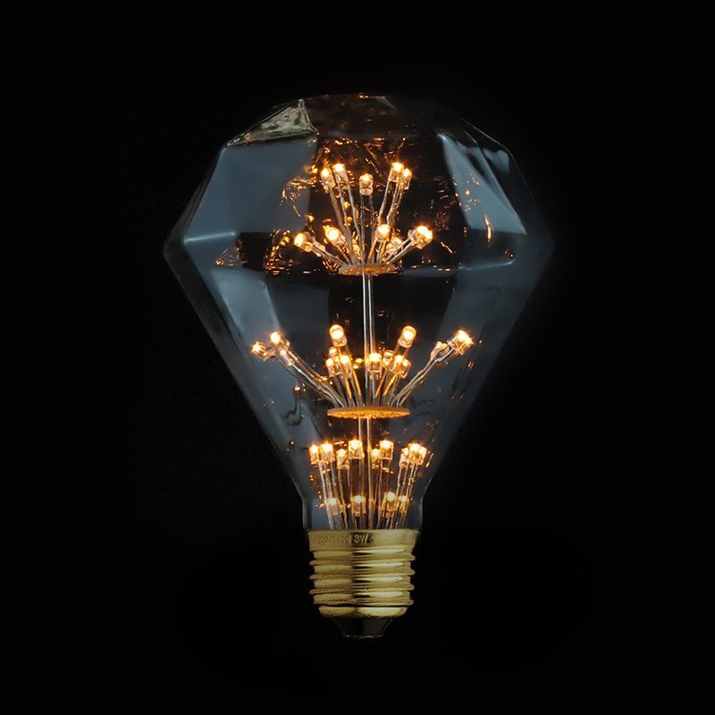 Diamond 3W LED Edison Fireworks Light Bulb