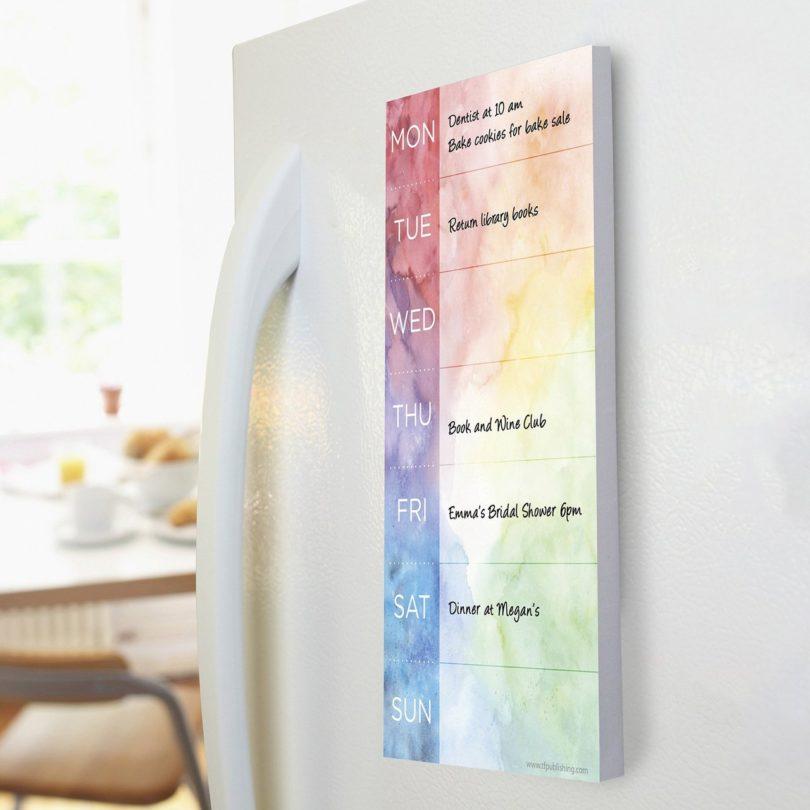 Tie-Dye Memo Magnet Note Pad