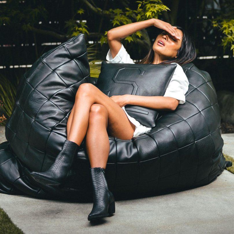 Leather Floor Pillow by Killspencer