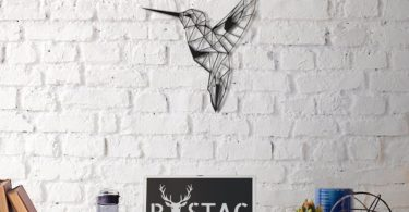 Bee Bird Metal Wall Decor