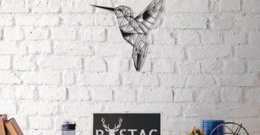 Bee Bird Metal Wall Decor