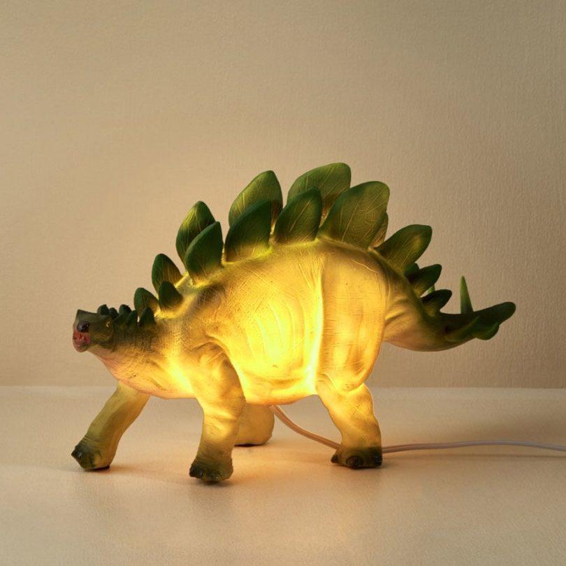 Stegosaurus Dinosaur Table Lamp