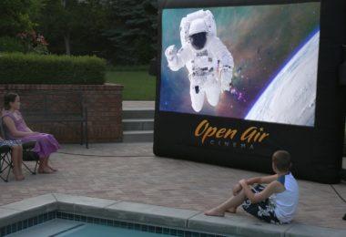 Open Air Outdoor Home Projector Screen 9×5