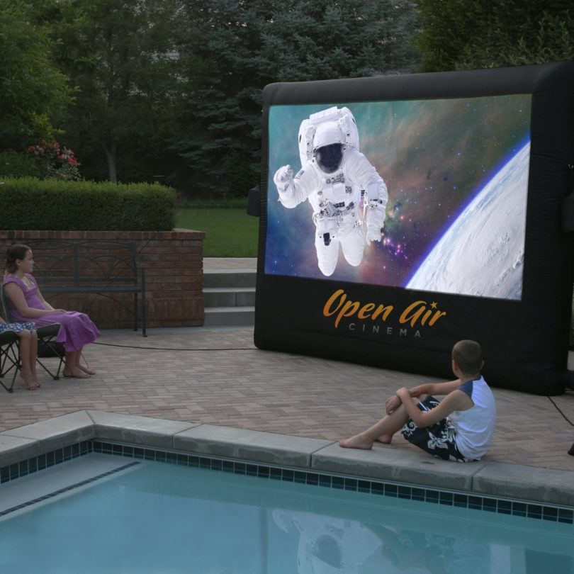 Open Air Outdoor Home Projector Screen 9×5