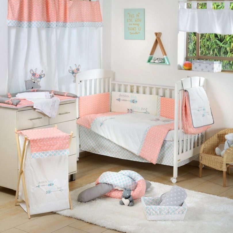 Dream Big Little One Pink Baby Crib Bedding Set
