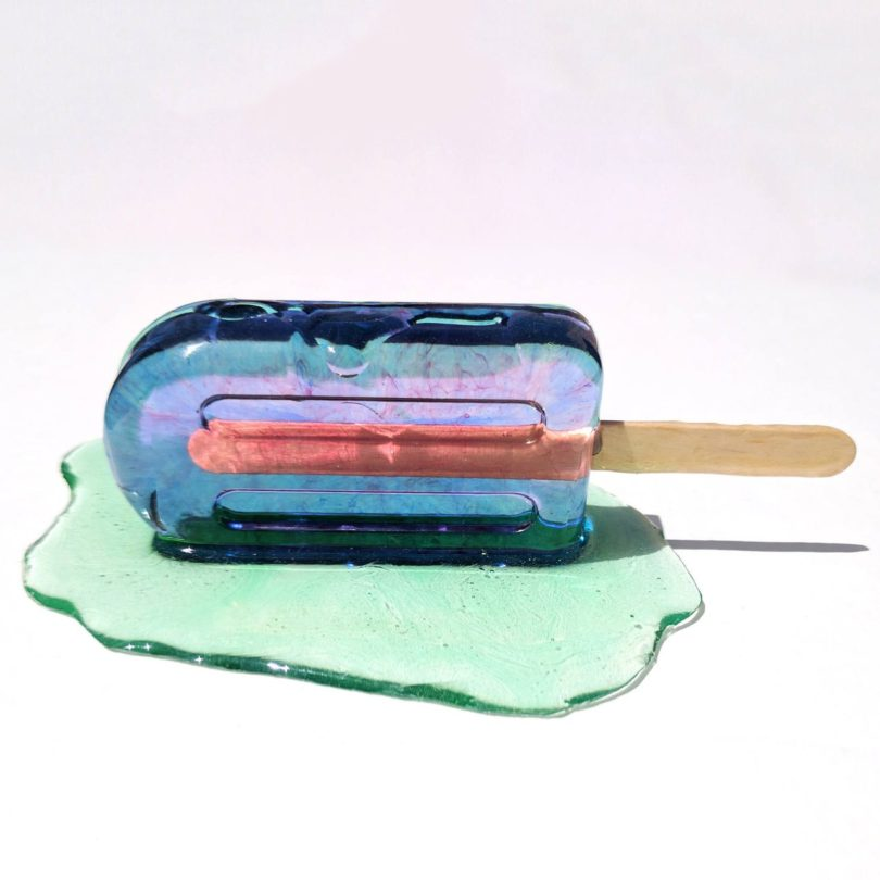 Blue Popsicle Sculpture