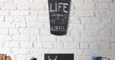 Coffee Cup Metal Wall Decor