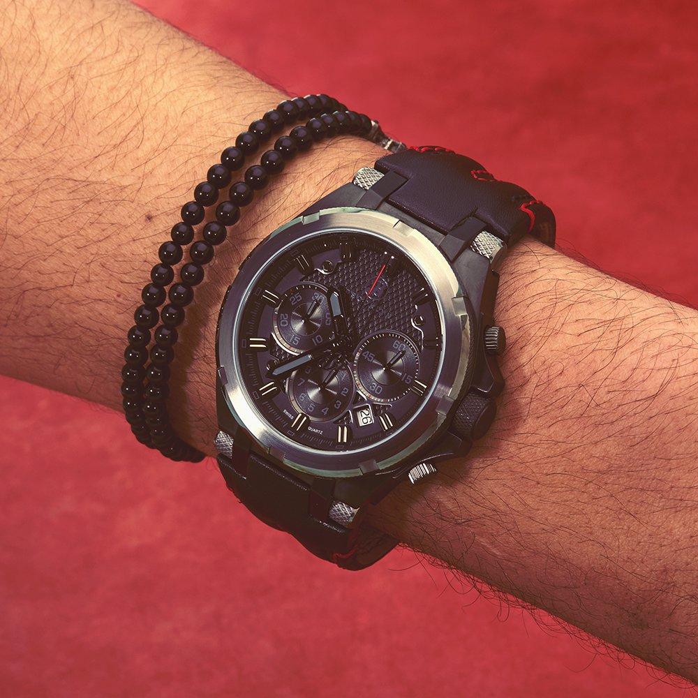Brooklyn Malcolm Swiss Quartz Chronograph Watch BW-103-M6221