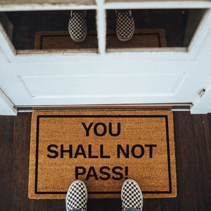 You Shall Not Pass! Doormat