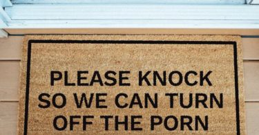 Please Knock Doormat