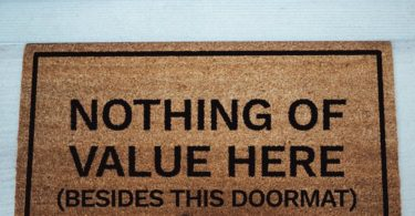 Nothing Of Value Here Doormat