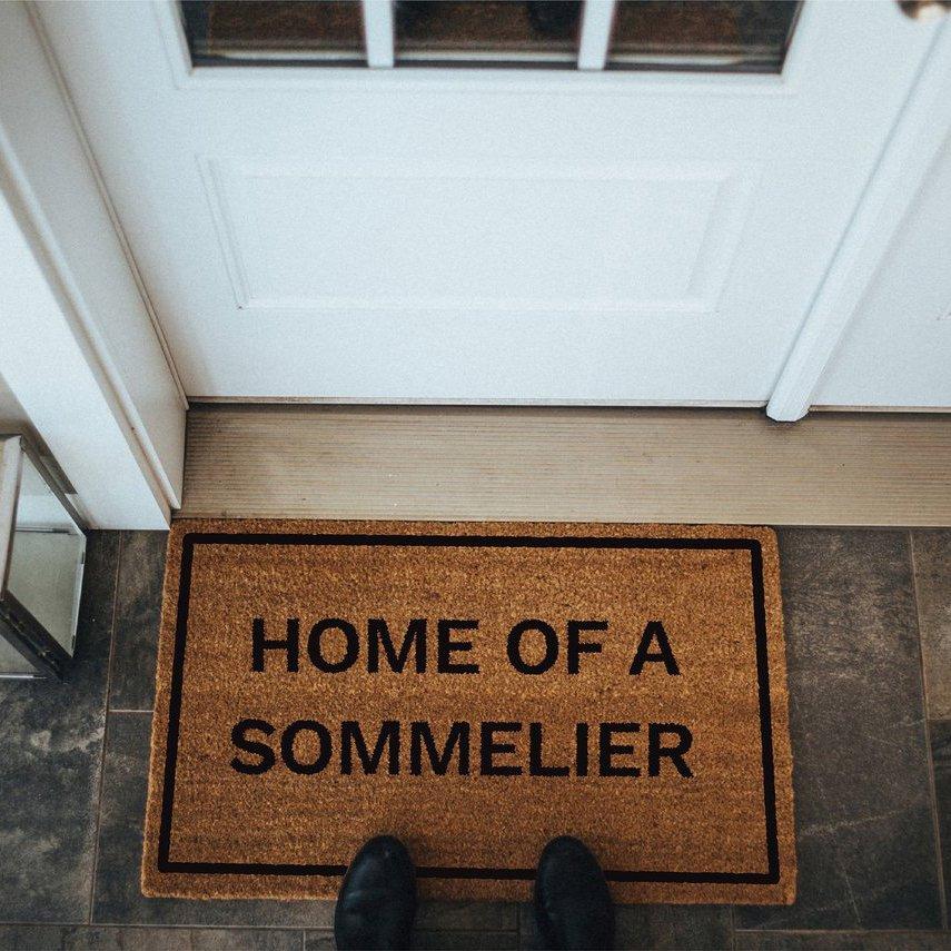 Home of a Sommelier Doormat