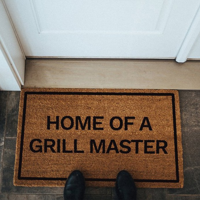 Home of a Grill Master Doormat