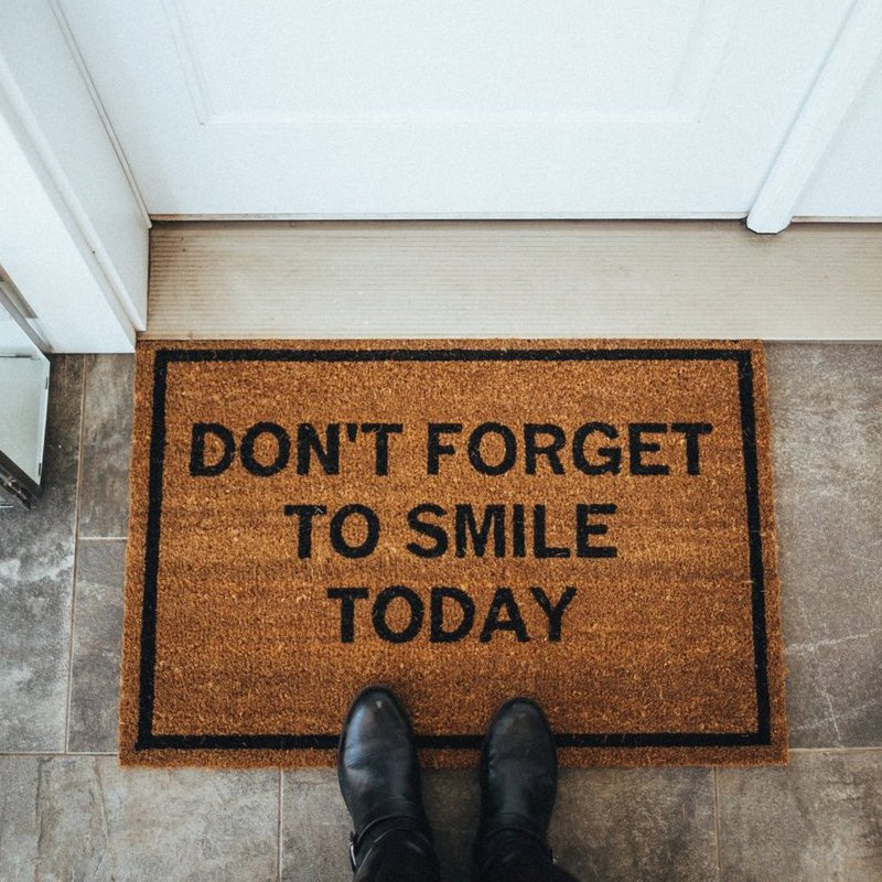 Don't Forget to Smile Today Doormat