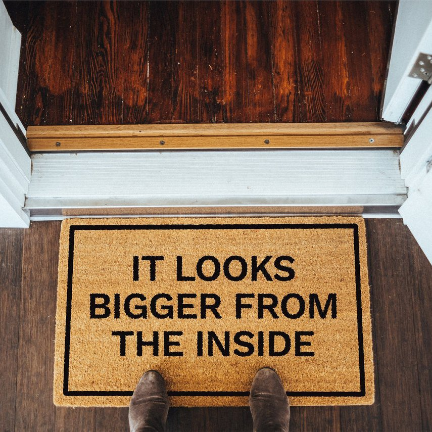 It Looks Bigger From the Inside Doormat