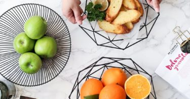 Simple Iron Fruit Basket