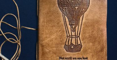 Until We Are Lost Blonde Leather Journal
