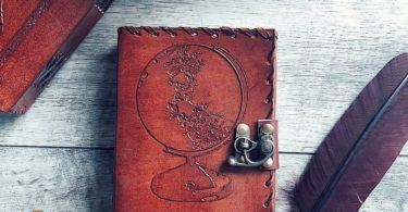 Destination Unknown Globe Mini Leather Journal