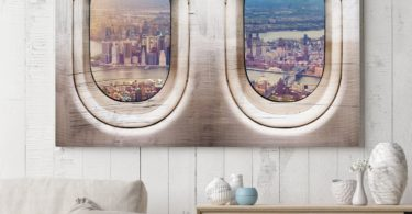 New York Skyline Window Seat Canvas