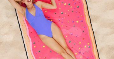 Giant Pink Pop Tart Beach Towel Blanket