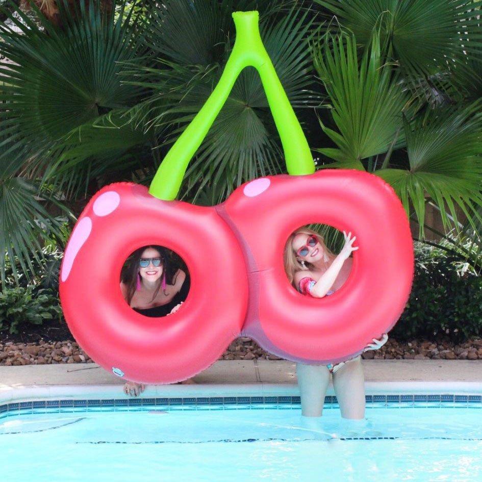 Giant Double Cherry Pool Float