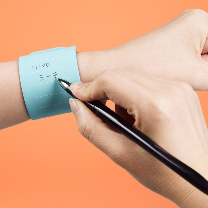 WEMO Wearable Memo Erasable Slap Bracelet Notepad
