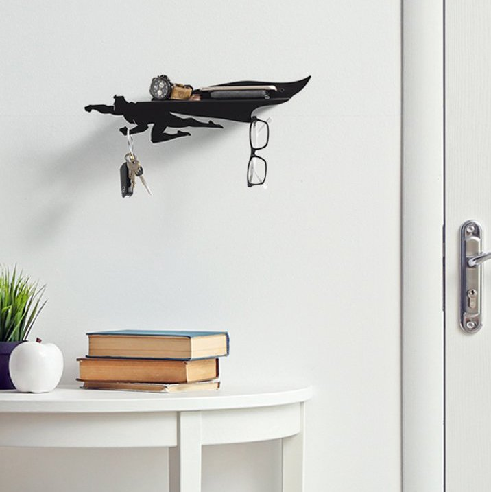 Heroshelf Superhero Shelf with Hooks