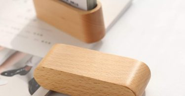 JINMURY Wooden Business Card Display Holder