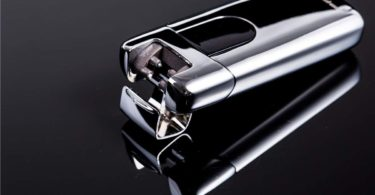 USB Electric Lighters Plasma Beam Arc Lighter Slim Portable Cigarette Lighter Silver