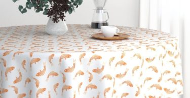 Roostery Round Tablecloth – Goldfish