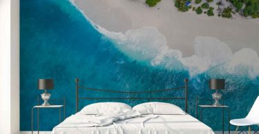 Aerial Beach View Wall Mural