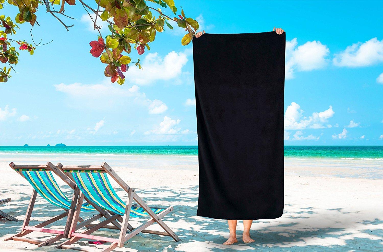 Turkish Cotton Ultra Soft Terry Velour Beach Towel